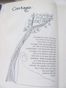 Courage from The Book of Qualities by J. Ruth Gendler